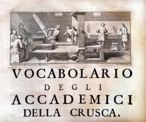 Vocabolario_degli_accademici_della_crusca,_IV_edizione,_1729-38,_02_incisione_di_un_frontespizio